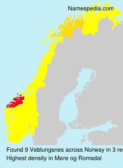 Surname Veblungsnes in Norway
