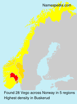 Surname Vego in Norway
