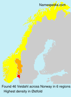 Surname Veidahl in Norway