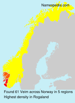 Surname Veim in Norway