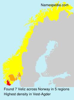 Surname Veliz in Norway