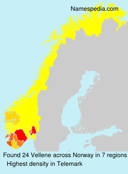 Surname Vellene in Norway
