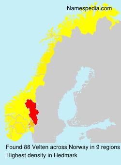 Familiennamen Velten - Norway