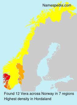Surname Vera in Norway