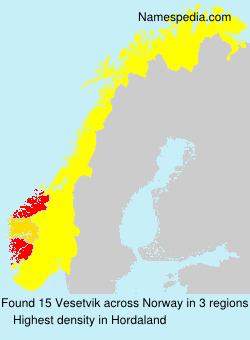 Familiennamen Vesetvik - Norway