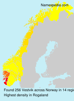 Surname Vestvik in Norway