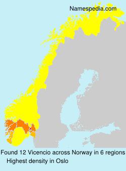 Surname Vicencio in Norway