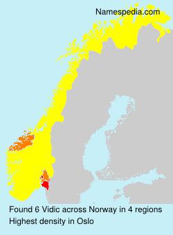 Surname Vidic in Norway