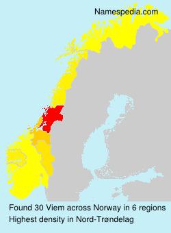 Surname Viem in Norway