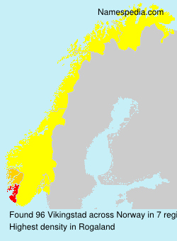 Surname Vikingstad in Norway
