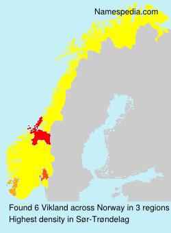 Surname Vikland in Norway
