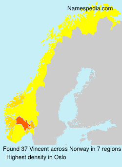 Surname Vincent in Norway