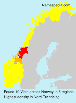 Surname Visth in Norway