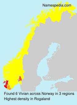 Familiennamen Vivian - Norway