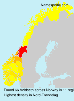 Surname Voldseth in Norway