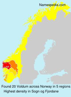 Familiennamen Voldum - Norway
