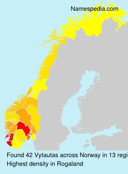 Surname Vytautas in Norway