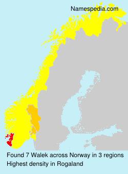 Surname Walek in Norway
