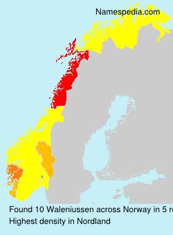 Surname Waleniussen in Norway