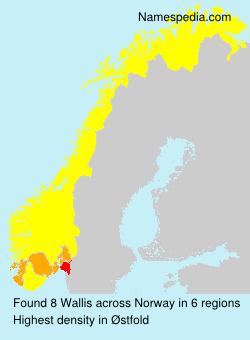 Surname Wallis in Norway