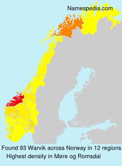 Surname Warvik in Norway
