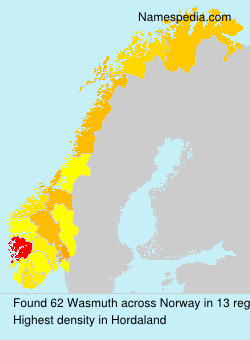 Surname Wasmuth in Norway