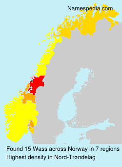 Surname Wass in Norway