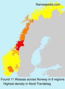 Surname Wassas in Norway