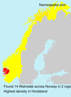 Surname Watnedal in Norway