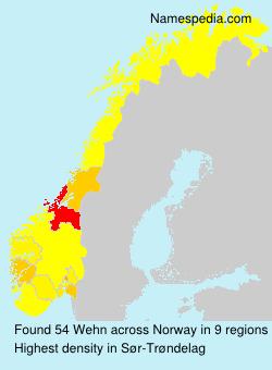 Surname Wehn in Norway