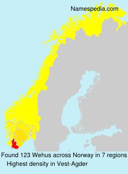Surname Wehus in Norway