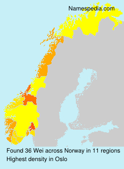 Surname Wei in Norway
