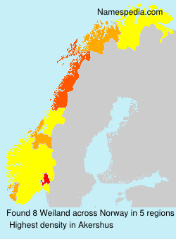 Surname Weiland in Norway