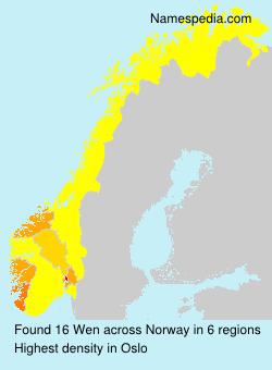 Familiennamen Wen - Norway