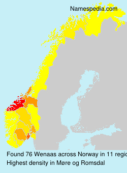 Surname Wenaas in Norway