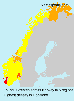 Surname Westen in Norway