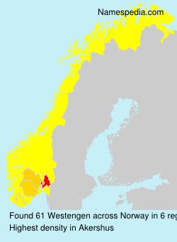Surname Westengen in Norway