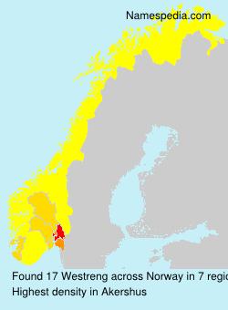 Surname Westreng in Norway