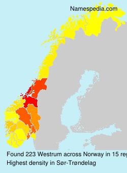 Surname Westrum in Norway