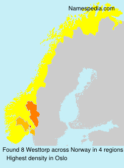 Surname Westtorp in Norway