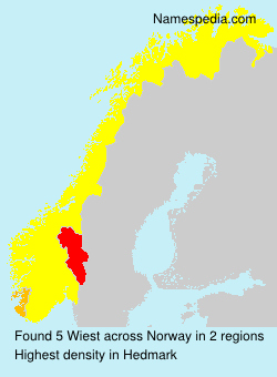 Surname Wiest in Norway