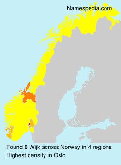 Surname Wijk in Norway