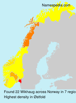 Surname Wikhaug in Norway