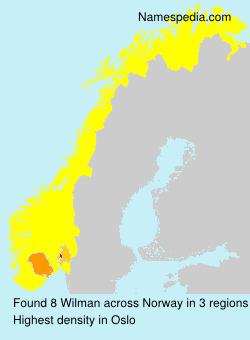 Familiennamen Wilman - Norway
