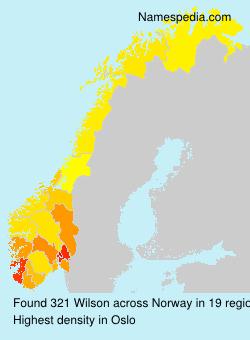 Surname Wilson in Norway