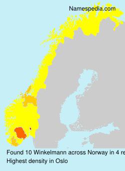 Surname Winkelmann in Norway