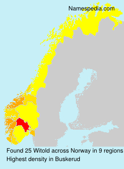 Surname Witold in Norway