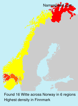 Surname Witte in Norway