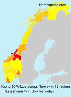 Surname Witzoe in Norway