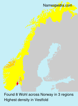 Surname Wohl in Norway
